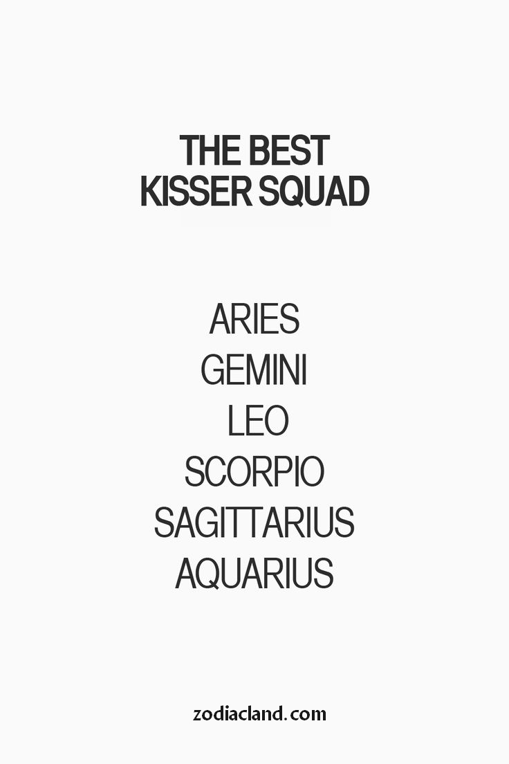 The BEST Kisser Squad! - Zodiac Land - the Best place for